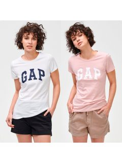 Bílé dámské tričko GAP Logo franchise classic, 2ks