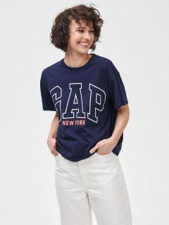 Modré dámské tričko GAP Logo New York City easy short sleeve tee