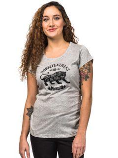 Horsefeathers ELMA ASH dámské triko s krátkým rukávem – šedá