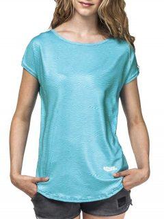 Horsefeathers EASE blue dámské triko s krátkým rukávem – modrá