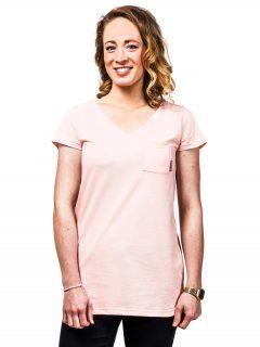 Horsefeathers TYRA barely pink dámské triko s krátkým rukávem – růžová