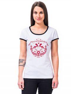 Horsefeathers AREA white dámské triko s krátkým rukávem – bílá