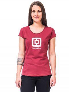 Horsefeathers ELEONOR garnet rose dámské triko s krátkým rukávem – červená