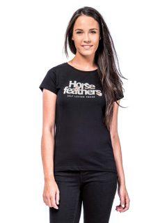Horsefeathers SELF LOVE black dámské triko s krátkým rukávem – černá
