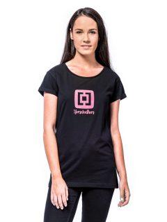 Horsefeathers NICKI black dámské triko s krátkým rukávem – černá