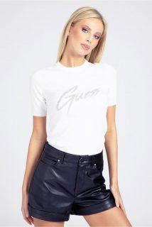 Guess bílé svetrové tričko Front Logo