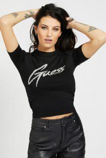 Guess černé svetrové tričko Front Logo