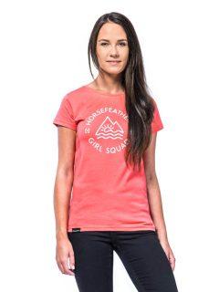 Horsefeathers TASHA sugar dámské triko s krátkým rukávem – červená