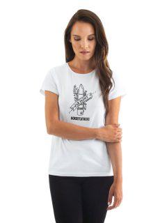 Horsefeathers WAR PAINT white dámské triko s krátkým rukávem – bílá