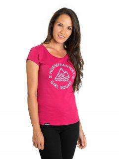 Horsefeathers TASHA rose red dámské triko s krátkým rukávem – růžová