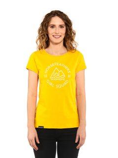 Horsefeathers TASHA CITRUS dámské triko s krátkým rukávem – žlutá