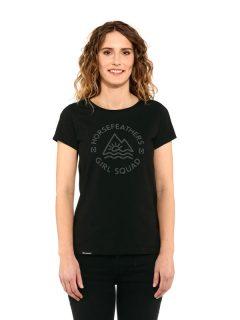 Horsefeathers TASHA black dámské triko s krátkým rukávem – černá