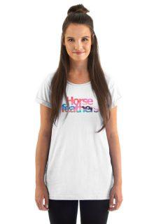 Horsefeathers CHELSEA white dámské triko s krátkým rukávem – bílá