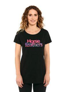 Horsefeathers CHELSEA black dámské triko s krátkým rukávem – černá