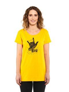Horsefeathers COLEEN CITRUS dámské triko s krátkým rukávem – žlutá