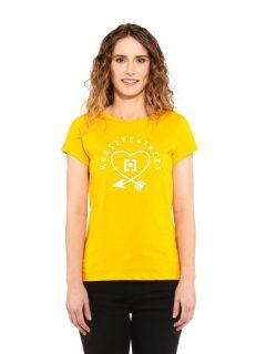 Horsefeathers ARROW LOVE CITRUS dámské triko s krátkým rukávem – žlutá
