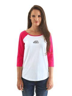 Horsefeathers BIRDIE rose red dámské triko s dlouhým rukávem – bílá