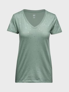 Zelené dámské tričko favorite print t-shirt