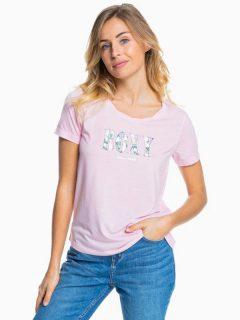 Roxy CHASING THE SWELL B PINK MIST dámské triko s krátkým rukávem – růžová