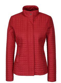 Červená dámská prošívaná bunda Geox