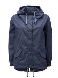 Modrá dámská bunda s kapucí Zizzi