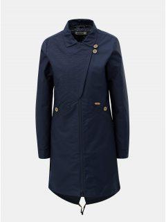 Tmavě modrý dámský kabát s odnímatelnou vnitřní lehkou vzorovanou bundou 2v1 Maloja Sottoponte