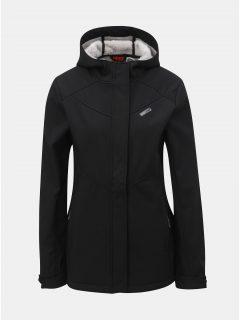 Černá dámská softshellová nepromokavá bunda s kapucí LOAP Lyla