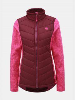 Růžová lehká dámská bunda s mikinovými rukávy LOAP Gabie