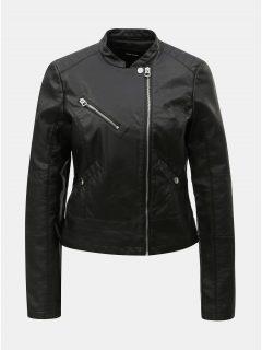 Černá koženková bunda VERO MODA Nora