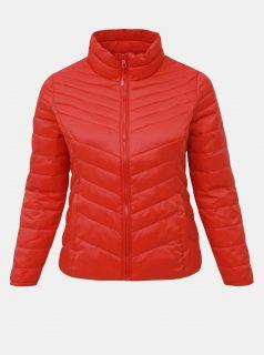 Červená prošívaná lehká bunda ONLY CARMAKOMA Demi