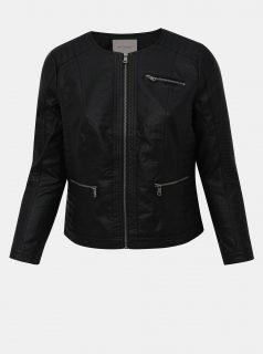 Černá koženková bunda ONLY CARMAKOMA Okra