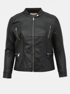 Černá koženková bunda ONLY CARMAKOMA Mette