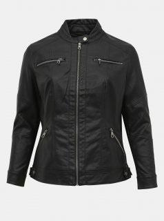 Černá koženková bunda ONLY CARMAKOMA Balou