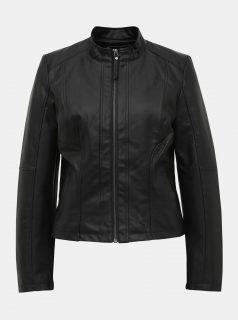Černá koženková bunda Noisy May Dacy
