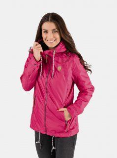 Tmavě růžová dámská nepromokavá lehká bunda SAM 73