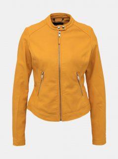 Hořčicová dámská koženková bunda Alcott