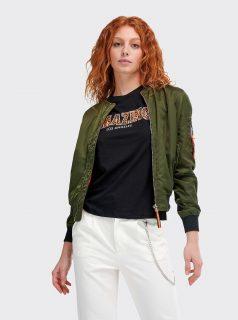 Tmavě zelený dámský bomber Alcott