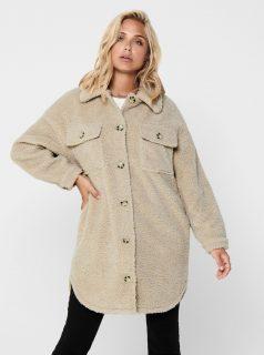 Béžová bunda s umělým kožíškem Jacqueline de Yong Stella