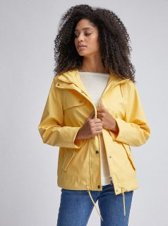 Žlutá voděodolná bunda Dorothy Perkins