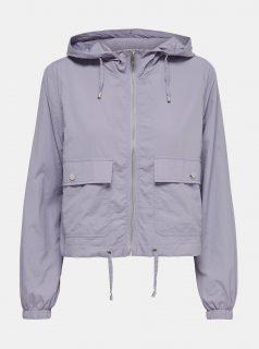Světle fialová lehká bunda s kapucí Jacqueline de Yong Anni