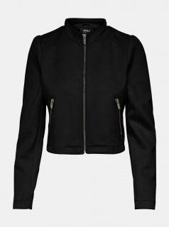 Černá bunda v semišové úpravě ONLY-Shelby