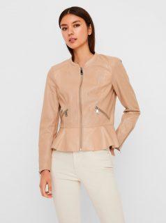 Béžová koženková bunda VERO MODA-Averyally