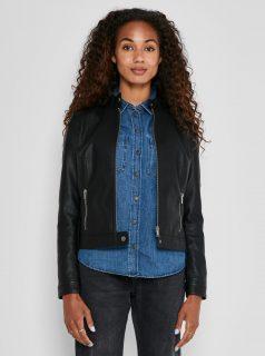 Černá koženková bunda Noisy May Randi