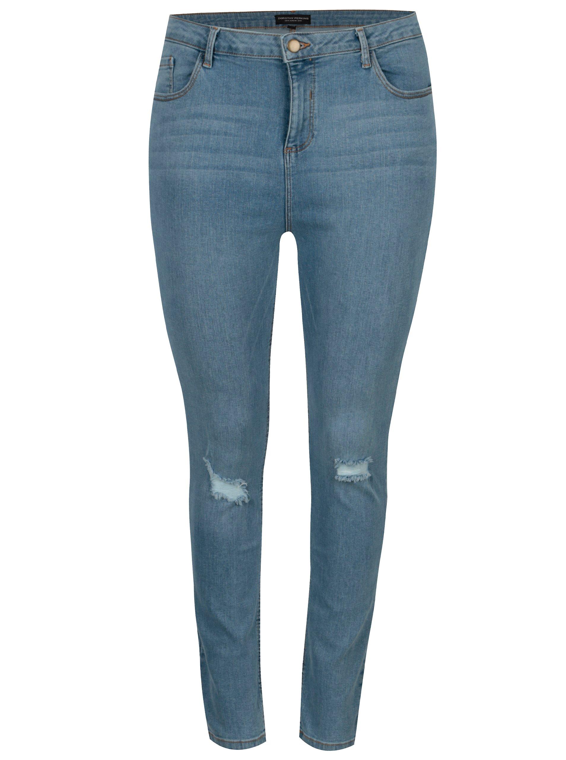 6164f8f6b56 Světle modré džíny s potrhaným efektem Dorothy Perkins Curve - Dámské džíny