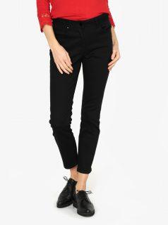 Černé zkrácené slim džíny M&Co