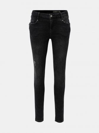 0ba3acfeb5b Tmavě šedé slim džíny se zipy VERO MODA Seven - Dámské džíny