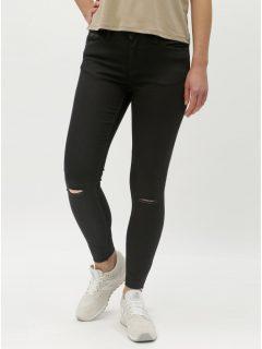 Černé skinny džíny s potrhaným efektem Jacqueline de Yong Jake