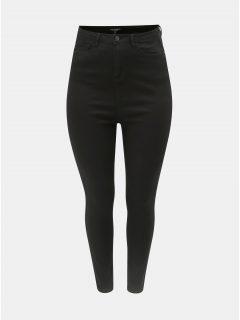 Černé slim fit džíny s vysokým pasem Dorothy Perkins Curve