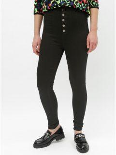 Černé skinny džíny s vysokým pasem TALLY WEiJL Sever