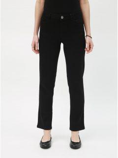 Černé zkrácené straight fit džíny Dorothy Perkins Petite Ashley